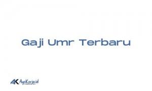 Gaji UMR Sanggau